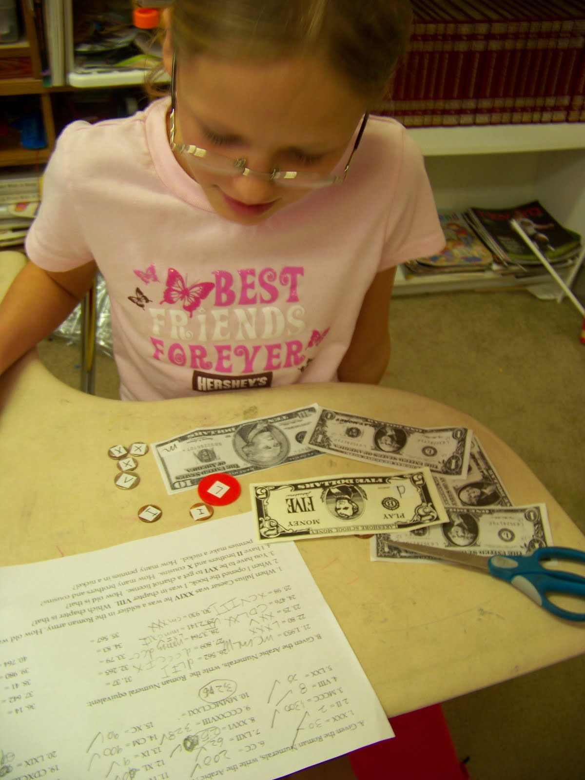 Our Fun Homeschool Roman Numerals With Money Manipulatives