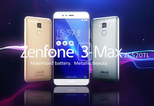 ZenFone 3 Max (ZC553KL) model.  Photo courtesy ASUS