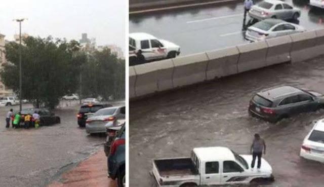 Jeddah Diterjang Banjir, Netizen: Kiamat Sudah Dekat