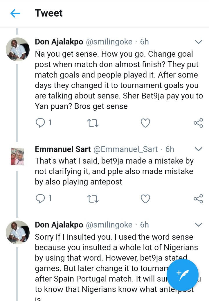 Breaking: Bet9ja might be in serious debt over goal scorer