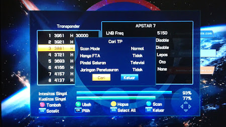 Cara Menambah Channel TV Parabola Venus Meteor HD