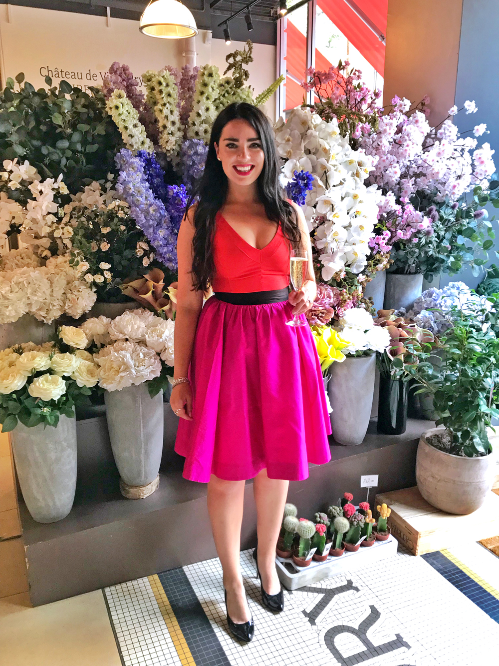 Emma Louise Layla Engagement Party - Kate Spade dress - London style blog