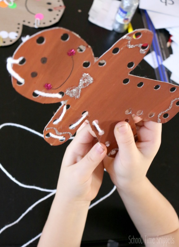 gingerbread ornament for preschoolers