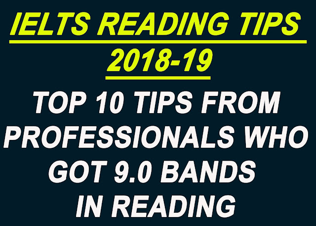 IELTS Reading Tips 2018-19