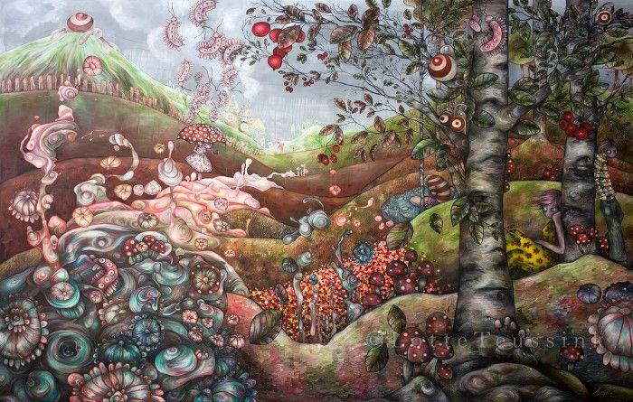 Симбиоз реального и сказочного миров. Lotte Teussink