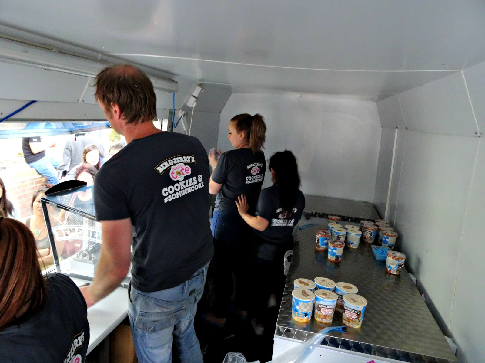 inside the ben and jerry's ice cream van