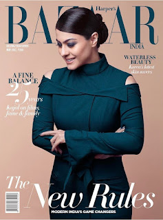 Kajol on the cover of Harpers Bazaar India magazine May 2017