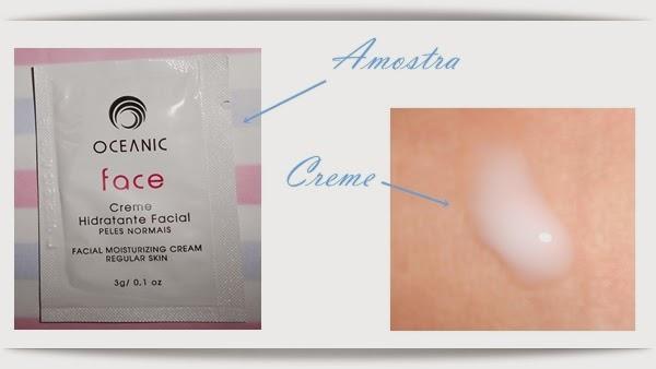 Creme Hidratante Facial Oceanic, Amostra grátis, peles normais