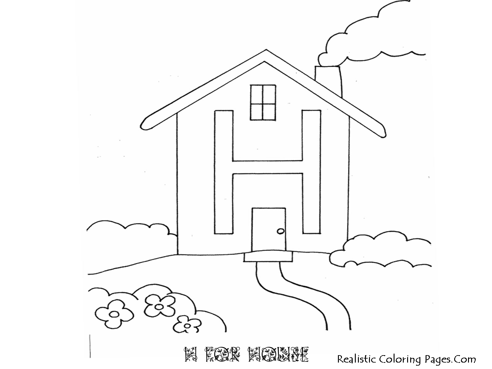 H Letters Alphabet Coloring Pages