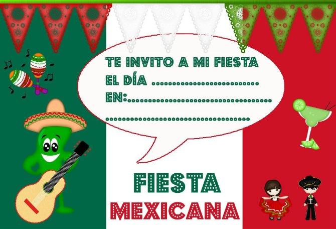 invitación fiesta mexicana