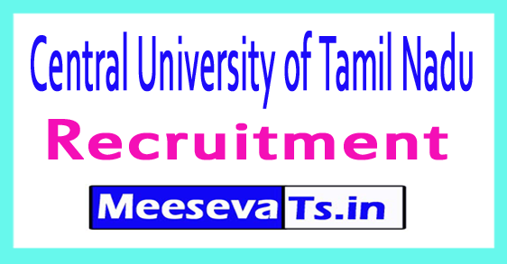 Central University of Tamil Nadu CUTN  Recruitment