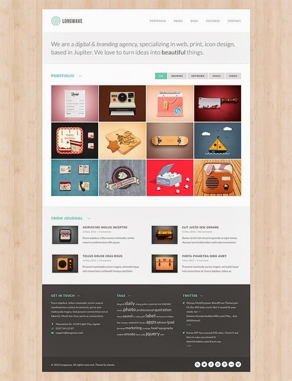 Longwave – Free Homepage PSD
