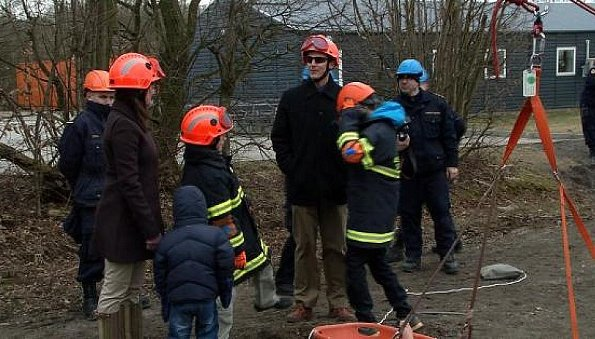 Princess Marie and her family Prince Joachim, Princess Athena and Prince Henrik visited the Emergency Management Agency