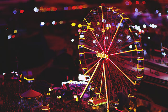 Ferris Wheel Fun Fair at Night