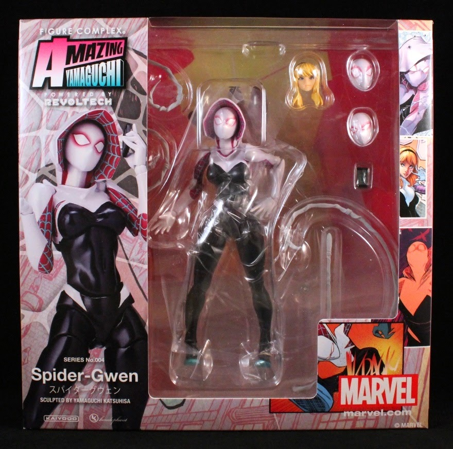 Marvel Kaiyodo Revoltech Spider Man Amazing Yamaguchi No 004 Spider Gwen Figure