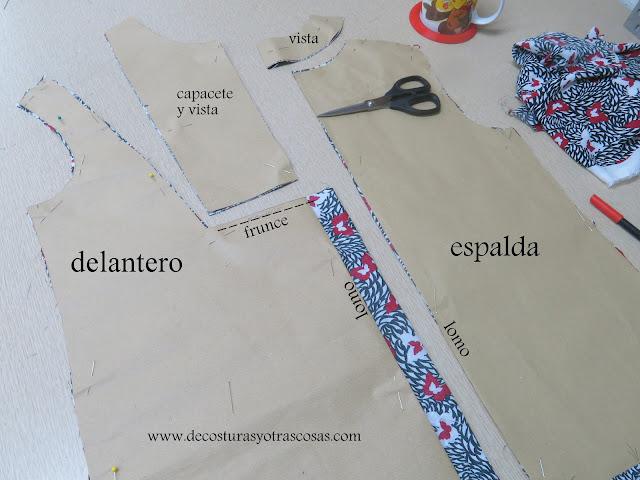 patrón con márgenes de costura incluídos