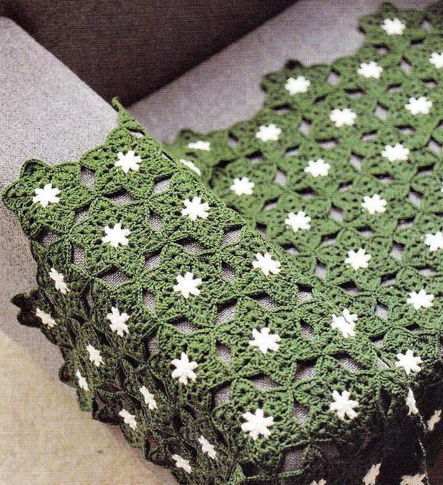 Crochet Throw - crochet Hexagon Motif - Star Motif