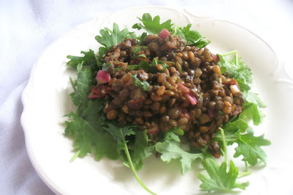 Lentil Salad with Rye Berries and Sun-Dried Tomatoes