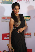 Sindhu looks fabulous in Black Saree designer choli at Mirchi Music Awards South 2017 ~  Exclusive Celebrities Galleries 017.JPG