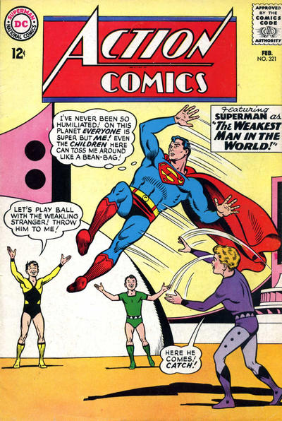 Episode #379 Part IV: Superman Comic Book Cover Dated February 1965: Action Comics #321!