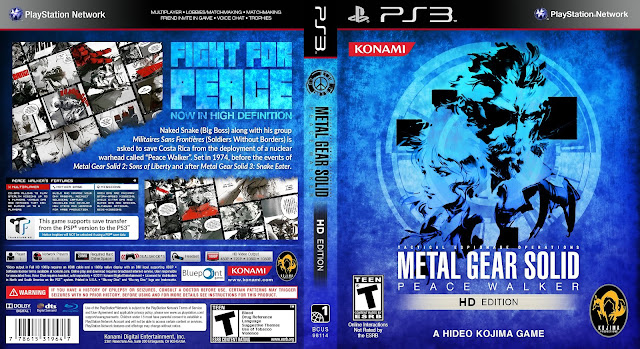Capa Metal Gear Solid Peace Walker HD Edition PS3