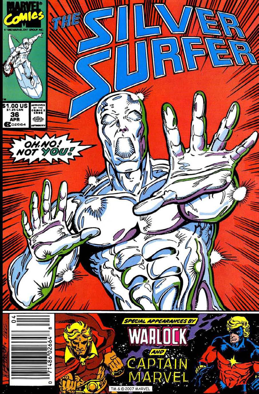 Read online Silver Surfer (1987) comic -  Issue #36 - 1