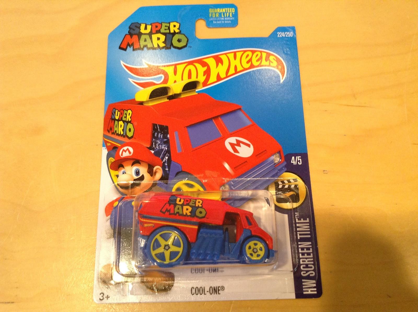 Free Shipping Hot Wheels Cool-One Super Mario Rare RARE HW Screen Time #224250