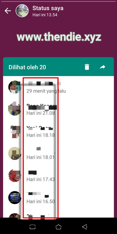 Cara Mudah Mengetahui Siapa Yang Telah Melihat Status Whatsapp Kita