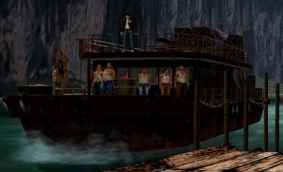 Flashback: Ryo arriving at Langhuishan by ferry in Shenmue II