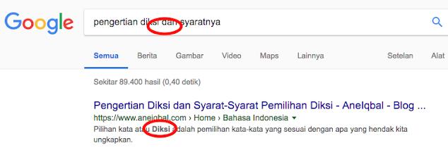 search description blogger