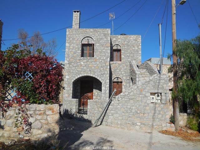 średniowieczna architektura wioski Avgonima Chios