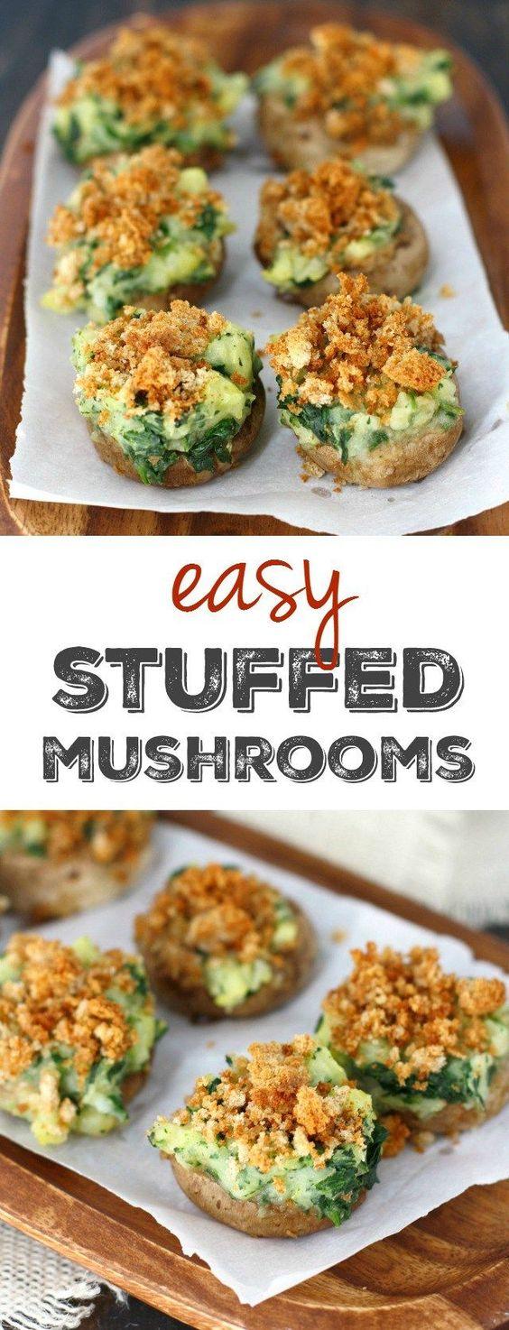 Vegan Stuffed Mushrooms.