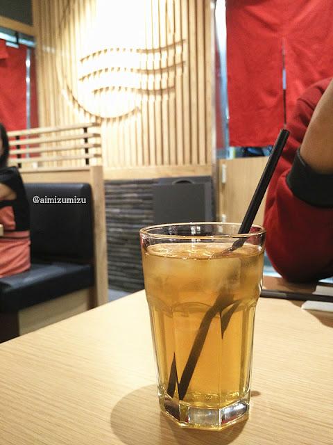 Free Refil Ocha Ippudo Ramen (Restoran Jepang) Central Park