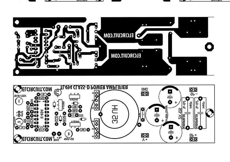 DIY 500W Class-D TL494 Switching Amplifier - Electronic Circuit
