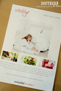 Swissotel Sydney - Room Service Menu - Vitality Program