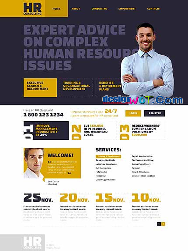 HR Consulting – Human Recourses Responsive Website Template