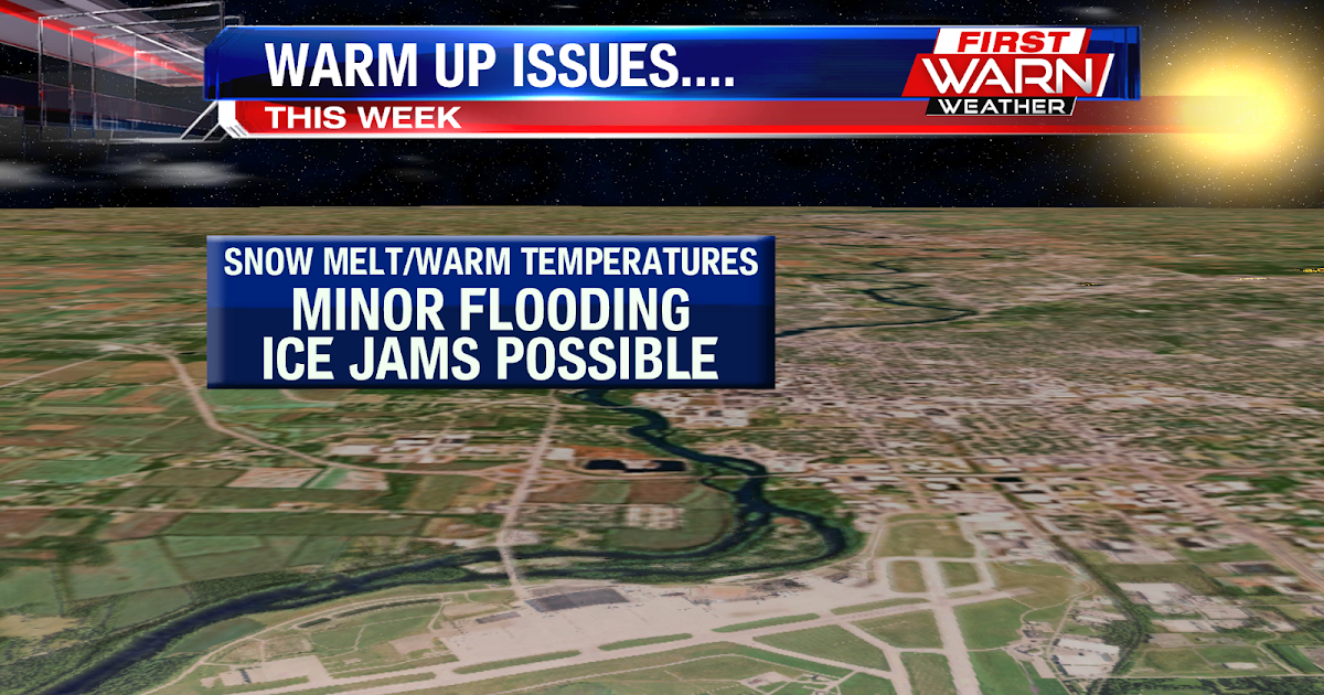 first warn weather team  localized ice jams possible this week