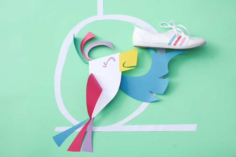 cut paper adidas