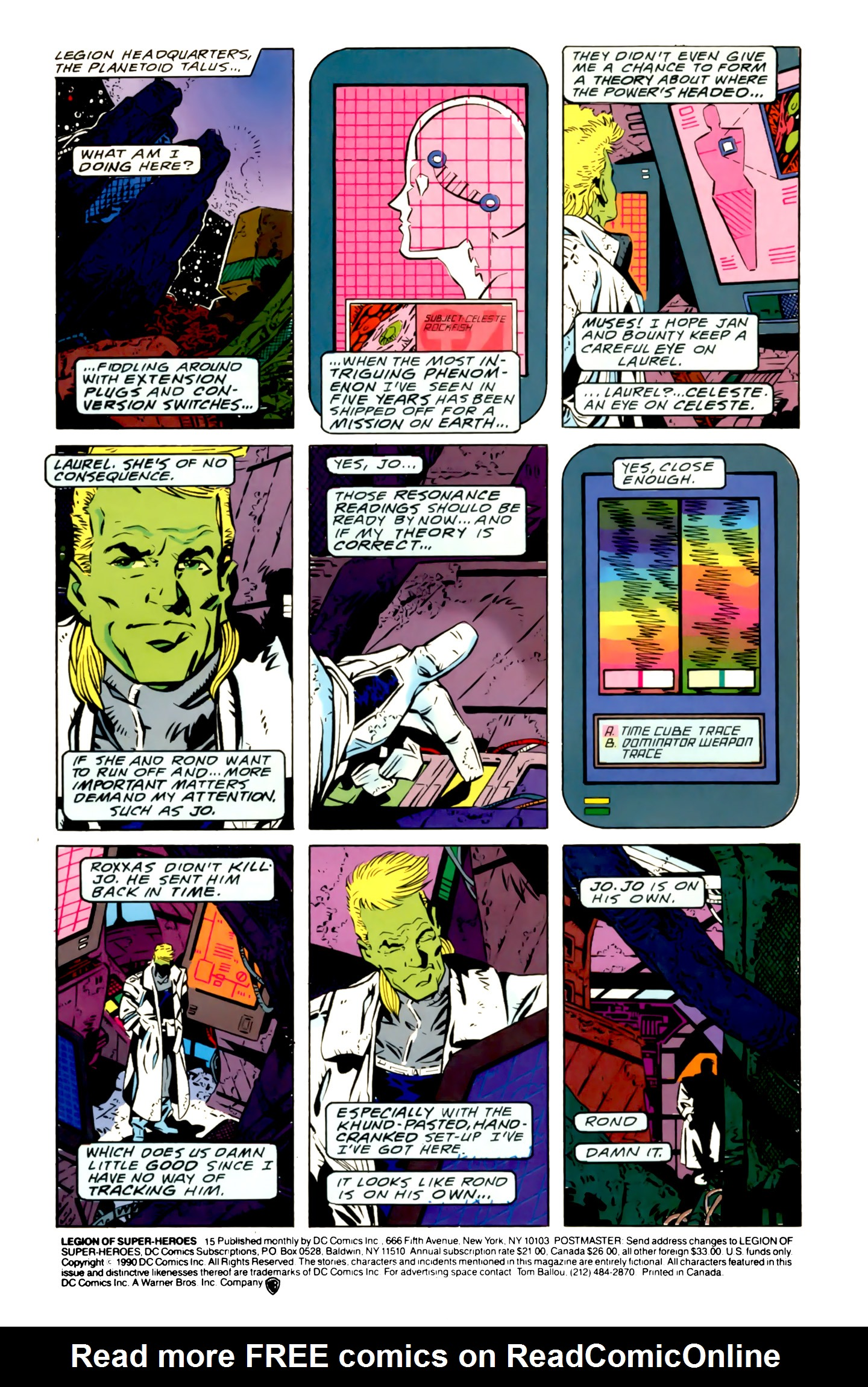 Legion of Super-Heroes (1989) 15 Page 1