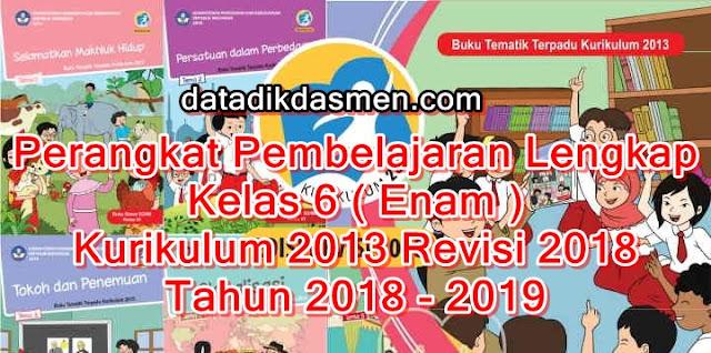 Perangkat Pembelajaran Lengkap SD Kelas 6 Kurikulum 2013 tahun 2018 - 2019