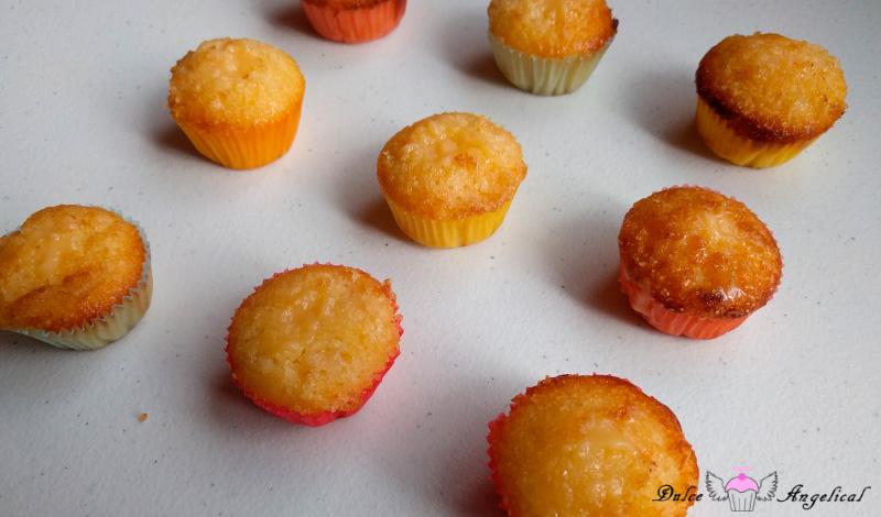 Receta de las mini magdalenas de limón rellenas con lemon curd