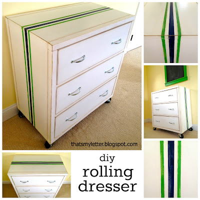 diy rolling dresser with wheels