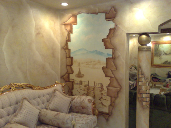Wall Mural Painting in Living Room Best home wallpaper designs