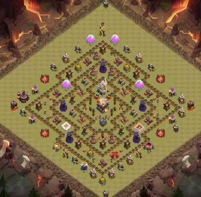 Base Town Hall 11 Clash of Clans Clan War