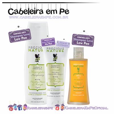 Linha Precious Nature Oil Figo Da Índia E Laranja - Alfaparf (Shampoo e Leave in liberados para Low Poo - Condicionaodor liberado para No Poo e cowash)