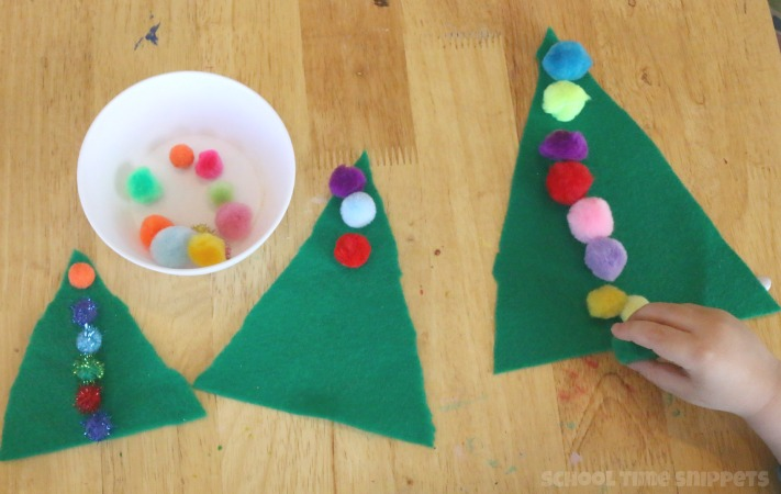 preschool christmas tree math activity