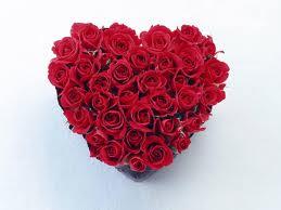 بوكيه ورد رومانسي بوكية ورد على شكل قلب