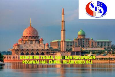 Deskripsi Tugas, Gaji dan Kelayakan Pegawai Hal Ehwal Islam Gred S41