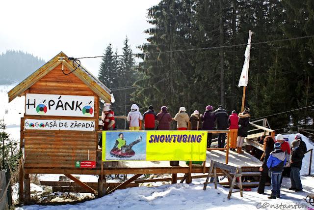 Harghita Băi - partia de snowtubing - blog FOTO-IDEEA