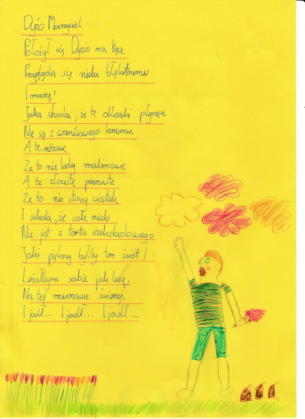 Lubimy Uczyć Takmamy Wiersze Działające Na Wyobraźnię